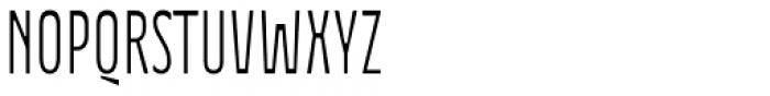 Waba D Light Font UPPERCASE