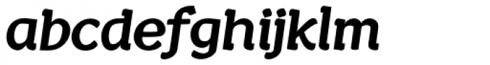 Wacca Thick Italic Font LOWERCASE