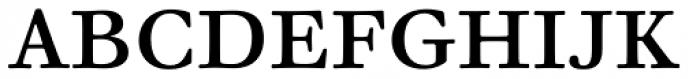 Walbaum 06 pt Regular Font UPPERCASE