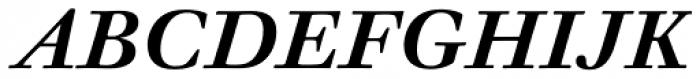 Walbaum 12 pt Semi Bold Italic Font UPPERCASE