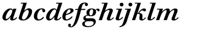 Walbaum 12 pt Semi Bold Italic Font LOWERCASE