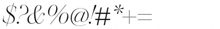 Walbaum 96 pt Light Italic Font OTHER CHARS