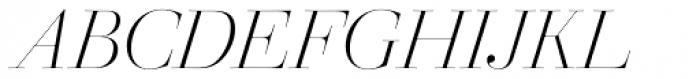 Walbaum 96 pt Light Italic Font UPPERCASE