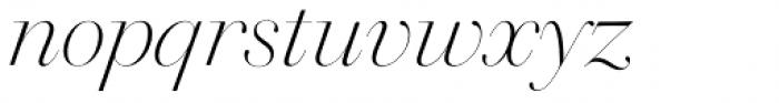 Walbaum 96 pt Light Italic Font LOWERCASE