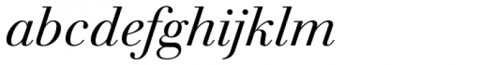 Walbaum Antiqua Pro Book Italic Font LOWERCASE