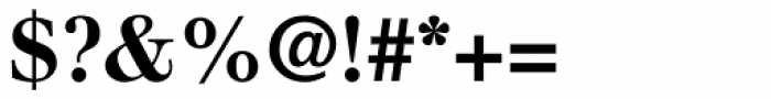 Walbaum Bold Oldstyle Figures Font OTHER CHARS