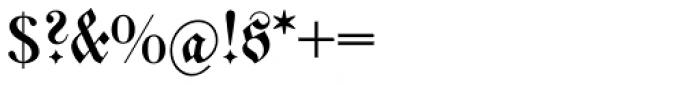 Walbaum Fraktur Com Regular Font OTHER CHARS