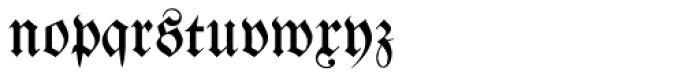 Walbaum Fraktur No2 Pro Font LOWERCASE