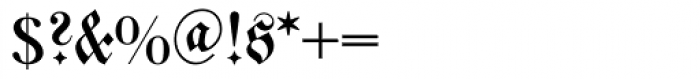Walbaum Fraktur Font OTHER CHARS