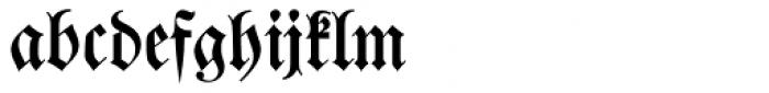 Walbaum Fraktur Font LOWERCASE
