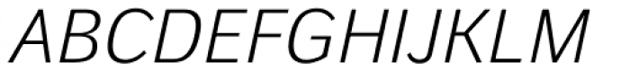 Walbaum Grotesk Book Italic Font UPPERCASE