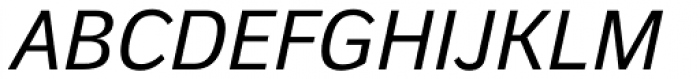 Walbaum Grotesk Text Italic Font UPPERCASE