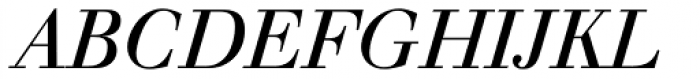 Walbaum Italic Font UPPERCASE