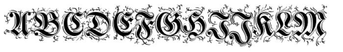 Walbaum Zierfraktur Pro Font UPPERCASE