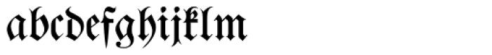 Walbaum Zierfraktur Pro Font LOWERCASE