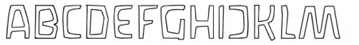 Waldorf Outline Font UPPERCASE