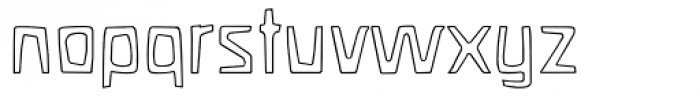 Waldorf Outline Font LOWERCASE