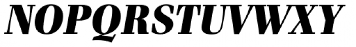 Waldorf Pro Black Italic Font UPPERCASE