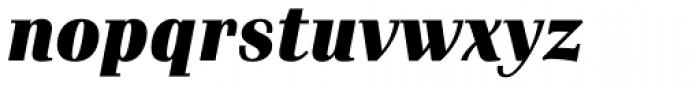 Waldorf Pro Black Italic Font LOWERCASE