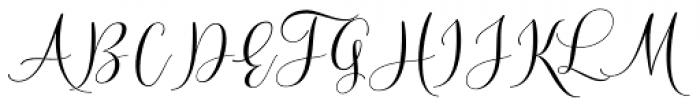 Wallingness Script Regular Font UPPERCASE