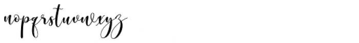 Wallingness Script Regular Font LOWERCASE