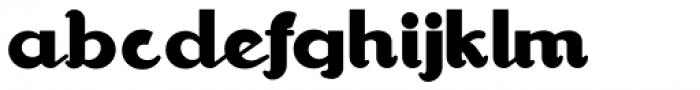 Walrus Gumbo NF Font LOWERCASE