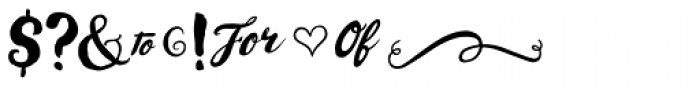 Wanderlust Letters Extras Font OTHER CHARS