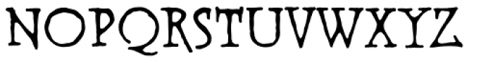 Warhorse BB Font LOWERCASE