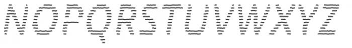 Warka Lines Font UPPERCASE