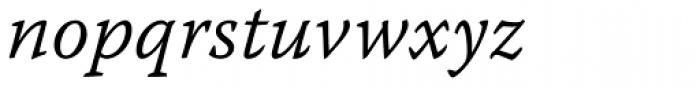 Warnock Pro Caption Light Italic Font LOWERCASE