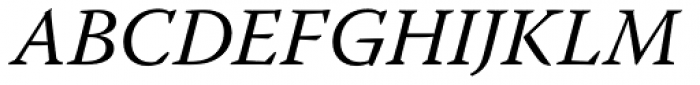 Warnock Pro Italic Font UPPERCASE