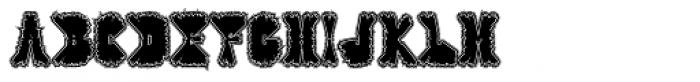 Warp Lined Font UPPERCASE