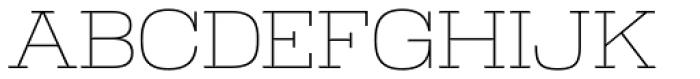Warrior ExtraLight Font UPPERCASE