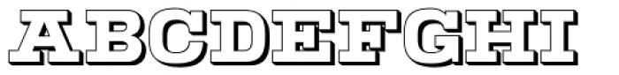 Warrior Open Font UPPERCASE