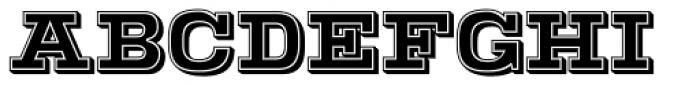 Warrior Shaded Font UPPERCASE