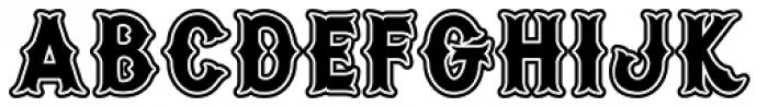 Warriors Heavy Font LOWERCASE