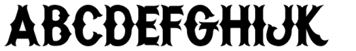 Warriors Font LOWERCASE