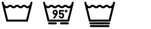 Washing Machine Bold Font OTHER CHARS