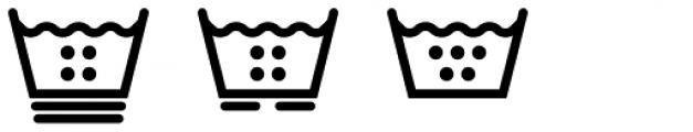 Washing Machine Bold Font UPPERCASE