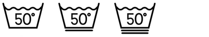 Washing Machine Font OTHER CHARS