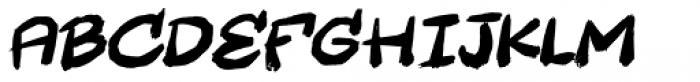 Wastebag Italic Font UPPERCASE
