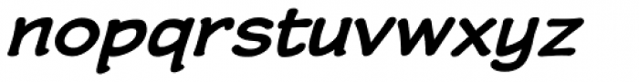 Wastrel Bold Expanded Oblique Font LOWERCASE
