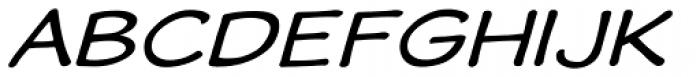 Wastrel Expanded Oblique Font UPPERCASE