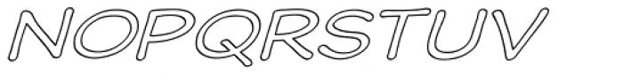 Wastrel Expanded Outline Oblique Font UPPERCASE