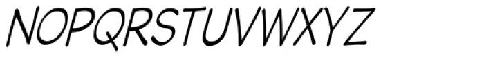 Wastrel Light Condense Oblique Font UPPERCASE