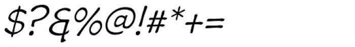 Wastrel Light Oblique Font OTHER CHARS