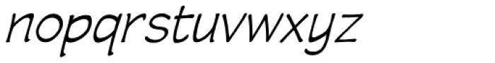 Wastrel Light Oblique Font LOWERCASE