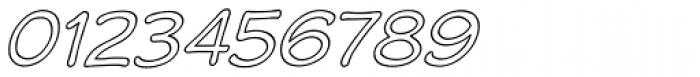 Wastrel Outline Oblique Font OTHER CHARS