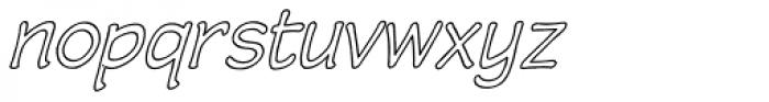 Wastrel Outline Oblique Font LOWERCASE