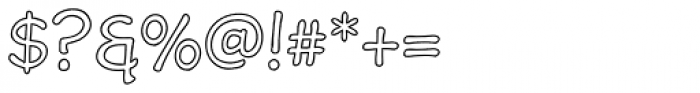 Wastrel Outline Font OTHER CHARS